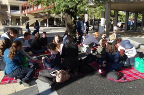 Harassment Free Zone Picnic outside ACT Health